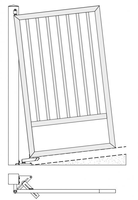 Poarta Batanta in rampa si unghi 1
